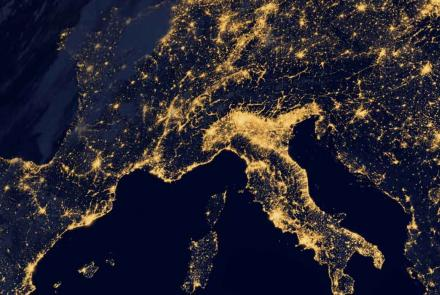 Italy at Night from Space
